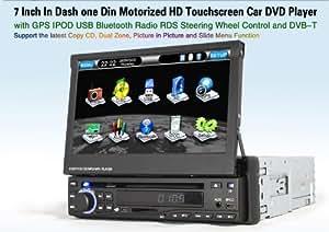 Autoradio HD GPS DIVX DVD MP3 USB SD RDS Bluetooth 3D IPOD PIP disque dur 2 Go