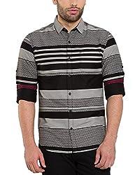 Locomotive Men's Casual Shirt (15110001471517_LMSH010657_L_Black)