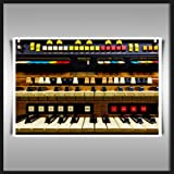 HAMMOND COLONNADE ORGAN A2 340GSM HEAVYWEIGHT COTTON CANVAS ART PRINT