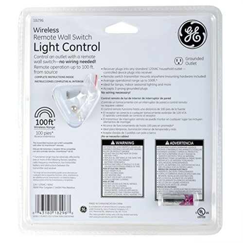 GE Wireless Indoor Remote Wall Switch Light Control 18296