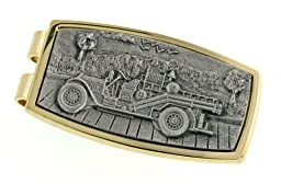 JJ Weston Vintage Fire Truck Money Clip. Made in the USA.
