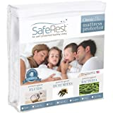Full Size SafeRest Classic Plus Hypoallergenic 100% Waterproof Mattress Protector - Vinyl Free