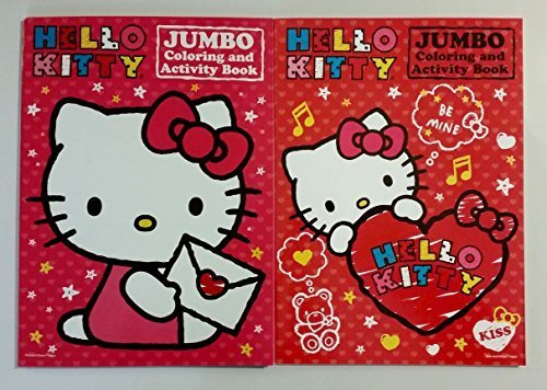 Hello Kitty Jumbo Coloring and Activity Book (Valentine Pack of 2)