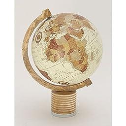 Deco 79 94456 Wood Marble Metal Globe, 14\