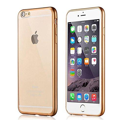 iPhone 5SE TPU ケース PopSky™ Apple iPhone 5se TPU 快適柔らかい スマホカバー (iPhone 5SE, ゴールド)