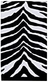 Creative Bath Products Zebra Safari 100-Percent Cotton Printed Hand Towel