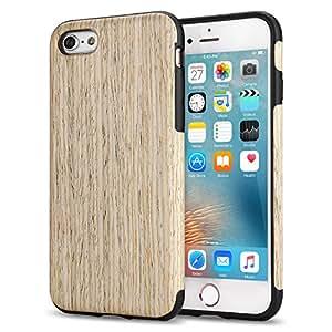 iPhone 6s Plus Case, Tendlin Premium Natural Wood [Excact-Fit] Flexible TPU Hybrid Soft Slim Wooden Cover Case for iPhone 6 Plus and iPhone 6s Plus (Nordic Walnut Wood)
