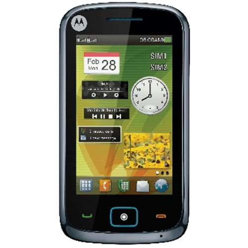 Motorola EX128 Unlocked Phone with Dual-Sim and Touchscreen - International Warranty - Black