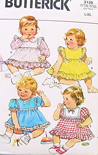 Butterick 4215 Baby Girls Dress And Panties Vintage Sewing Pattern Infant Size L-Xl Weight 18-26 front-941530