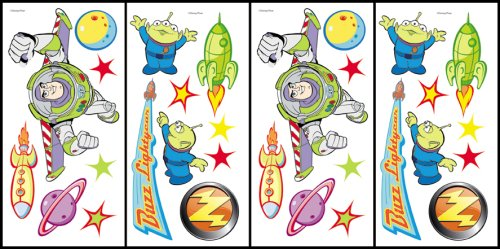 Blue Mountain Wallcoverings 31420500 Buzz Lightyear Self-Stick Accent Stickers - 1