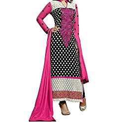 ShivFab Presents all new design of Embroidered Salwar Kameez (Semi Stitched). (Heenari-01)