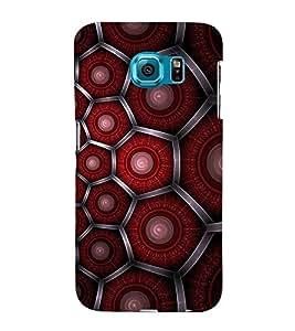 Hexagonal Pattern Cute Fashion 3D Hard Polycarbonate Designer Back Case Cover for Samsung Galaxy S6 G920I :: Samsung Galaxy G9200 G9208 G9208/SS G9209 G920A G920F G920FD G920S G920T