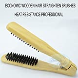 ECONOMIC heat resistance wooden hair straighten brushes Bristles hair V brushes,hair salon brushes Free shiping