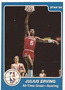 Julius Erving 1984-85 Star Basketball Card #281 - Philadelphia 76ers - Stored in a... by Star