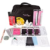 Glad Lash Essential Student Eyelash Extensions Kit with Mixed Length Lashes, Glue, Tools