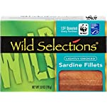Wild Selections® Lightly Smoked Sardine Fillets, 3.8 oz. tins inside cartonettes (12 pack)