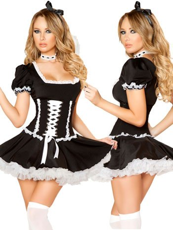 Mischievous Maid Sexy French Maid Costume - SMALL/MEDIUM
