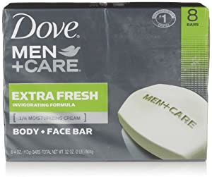 Dove Men + Care Body and Face Bar, Extra Fresh, 8 Count