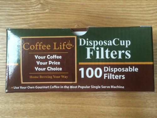 Disposacup Filters - 100 Disposable Replacement Filters For Use In Disposacups And Others - Box Of 100 Filters - Free Prime Shipping