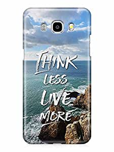 YuBingo Think Less. Live More Designer Mobile Case Back Cover for Samsung Galaxy J7 2016