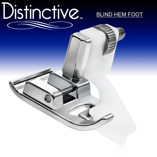 Distinctive Blind Hem Sewing Machine Presser Foot - Fits All Low Shank Snap-On Singer*, Brother, Babylock, Euro-Pro, Janome, Kenmore, White, Juki, New Home, Simplicity, Elna And More!
