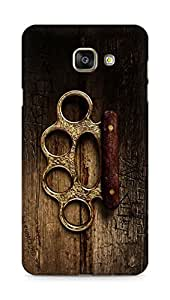 Amez designer printed 3d premium high quality back case cover for Samsung Galaxy A7 (2016 EDITION) (Assassins creed syndicate knuckles)