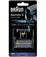 Braun - Combi-Pack 30B - Recharge Grille + Couteaux pour Rasoirs Anciens Séries 3 / Syncro Pro / Syncro / Smart Control3 / Tri Control