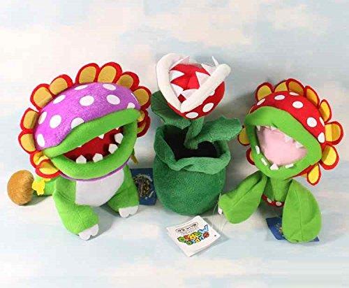 Super Mario Bros Petey Dino Plant Piranha 7 - 8 Inch Toddler Stuffed Plush Kids Toys