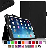Fintie Apple iPad Air Folio Case - Slim Fit Leather Smart Cover with Auto Sleep / Wake Feature for iPad Air (iPad 5th Generation) 2013 Model, Black