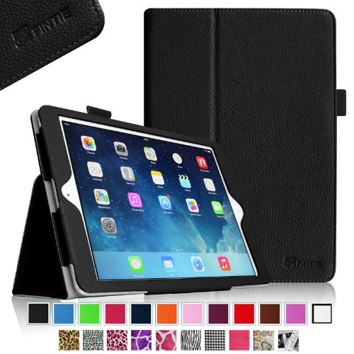 Fintie Apple Ipad Air Folio Case - Slim Fit Leather Smart Cover With Auto Sleep / Wake Feature For Ipad Air 5 (5Th Generation) - Black