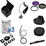 BIRUGEAR 11 Items Value 58mm Lens Accessories Bundle kit for Canon Digital SLR EOS 1000D 400D 500D 550D 600D 1100D 40D 50D 60D 60Da 7D 5D Mark III(with 18-55mm, 75-300mm, 50mm 1.4, 55-200mm Lenses)