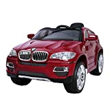 1234-Buy 2014 New BMW X6 Licensed Kids Ride on 12V Twin Motors Electric Car + parental remote control + open able door + battery capacity indicator + LED Lights + mp3 input + music volume control, available in colour White, Black, Blue and Red (Red)