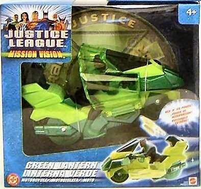 Buy Low Price Mattel JUSTICE LEAGUE MISSION VISION GREEN LANTERN MOTORCYCLE Figure (B00014WKW6)
