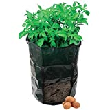 Yuhwa Green Potato Planter Gardeners Waterproof Grow Bags With Access Flap for Harvesting, 18 H x 17 W