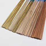 2% 5% 10% Silver Copper Phosphorus Brazing Rods Bar Mig Tig Welding Wire Solder Soldering Rods Stick Sheet Metal Steel Alloy 1.0mm 2 percents silver (Color: 1.0mm, Tamaño: 2 percents silver)