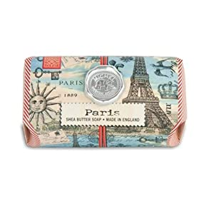 Michel Design Works Oversized Triple Milled Bath Soap Bar, Paris, 9 Ounce