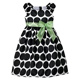 Girls' Cherokee® Dot Dress - Black