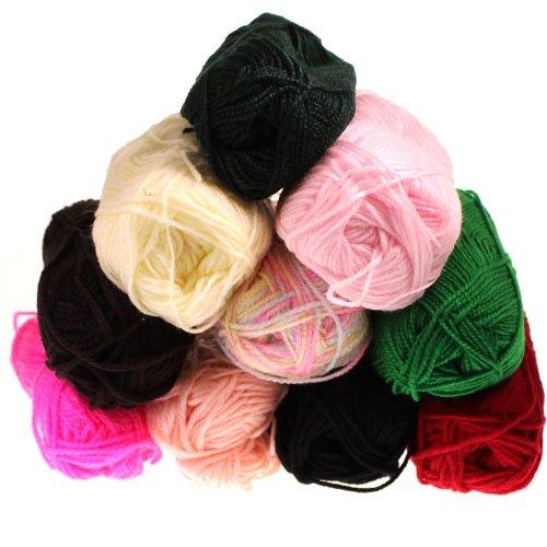 Bumper Pack Of Knitting Yarn Wool 10X25G Balls Skeins By Kurtzy Tm front-266669