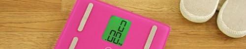 DRETEC 【A4サイズよりも小さい! / 体重50g単位表示】 コンパクト体組成計 「プティプラス」 ピンク BS-221PK