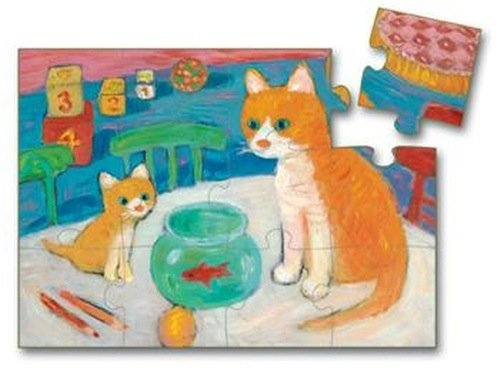 Picture of Djeco Mommy and Her Kitten Puzzle by Djeco (B001EL04UK) (Floor Puzzles)