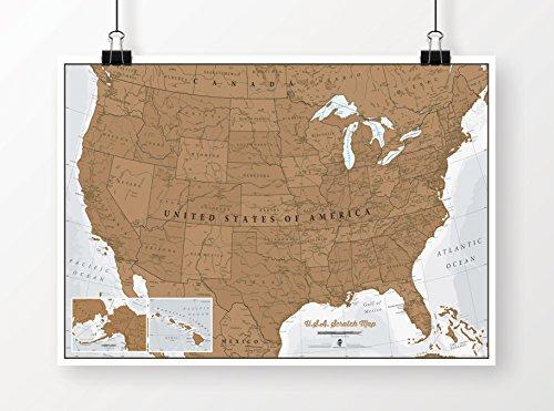 Scratch USA Map