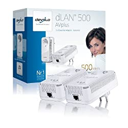Devolo dLAN 500 AVplus, Con cables, RJ-45, Ethernet, 500 Mbit/s, IEEE 802.3, IEEE 802.3u, IEEE 802.3x, OFDM, 4096/1024/256/64-QAM, QPSK, BPSK (importado de Alemania)