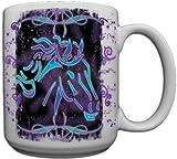 Tribal Horse Custom Coffee Mug CERAMIC from Redeye Laserworks