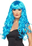 Ladies Fancy Dress Party Long Curly Siren Glamour Wig Multi Coloured