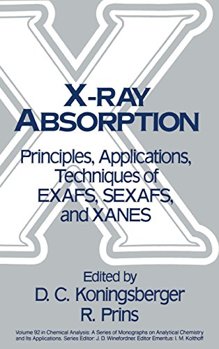 X-Ray Absorption: Principles, Applications, Techniques of EXAFS, SEXAFS and XANES PDF