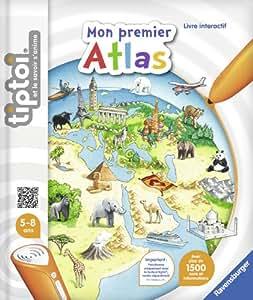 Ravensburger - 00628 -  Jeu Éducatif Électronique - Livre - Mon Premier Atlas Tiptoi