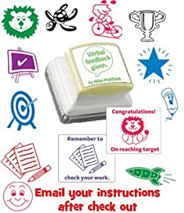 Personalised self inking teacher stamp for Post office design your own stamps