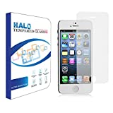 Halo Japanese Oleophobic Tempered Glass Screen Protector for iPhone 5S / 5c / 5. Hardness 9H with Rounded Edges – (0.3mm) Thick