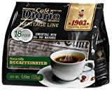 Café Diario Heritage Line 1903 Naturally Decaffeinated Medium Roast, 18 count pods (pack of 6)