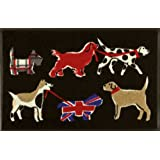 "Wash+Dry 035244 Fu�matte British Dogs 50 x 75 cmvon ""Wash+Dry"""